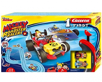 Carrera FIRST Mickey and the Roadster Racers 2,9 Meter 20063030 ab 3 Jahren Mickey Mouse Vs. Donald Duck - 1
